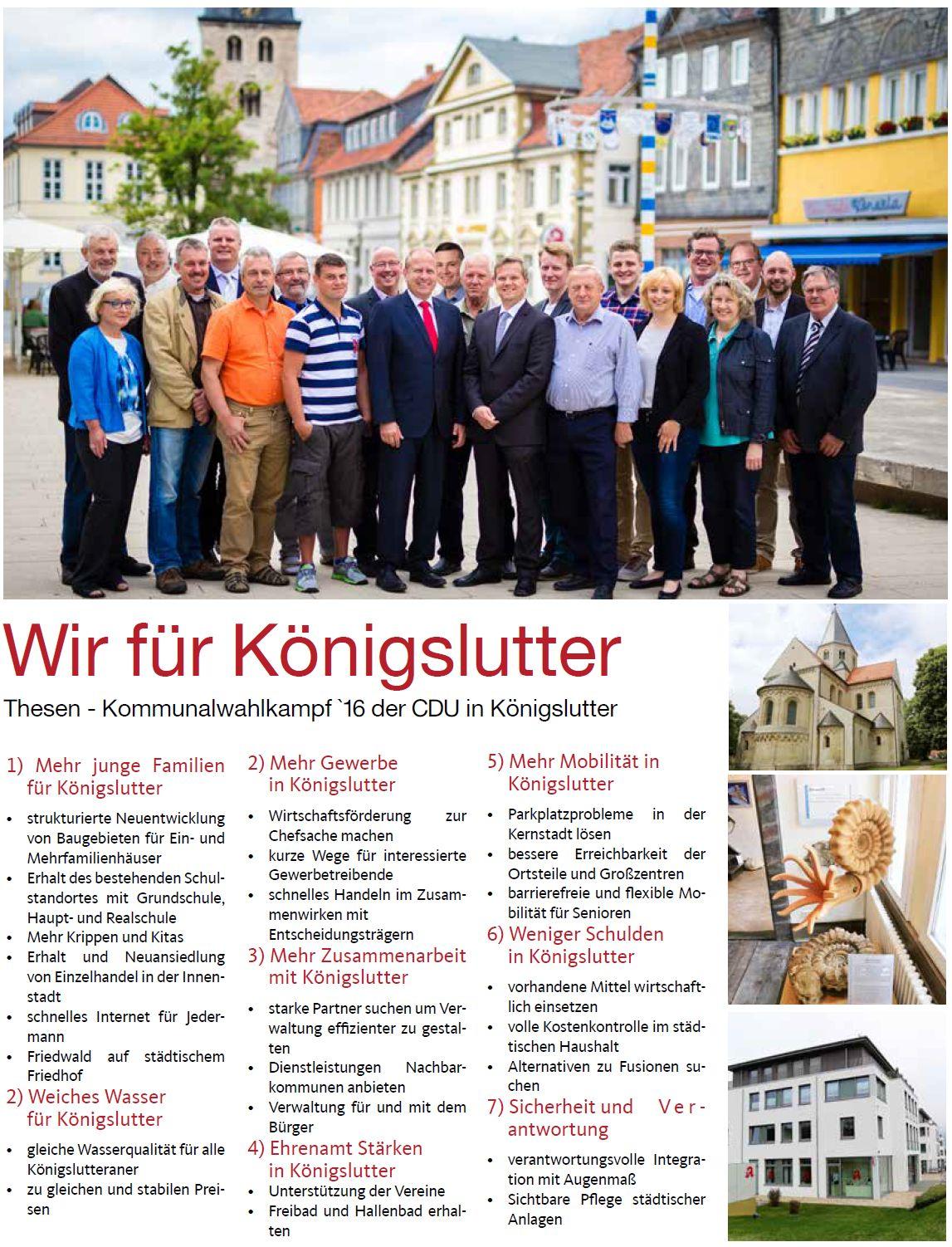 Wahlprogramm der CDU K�nigslutter 2016