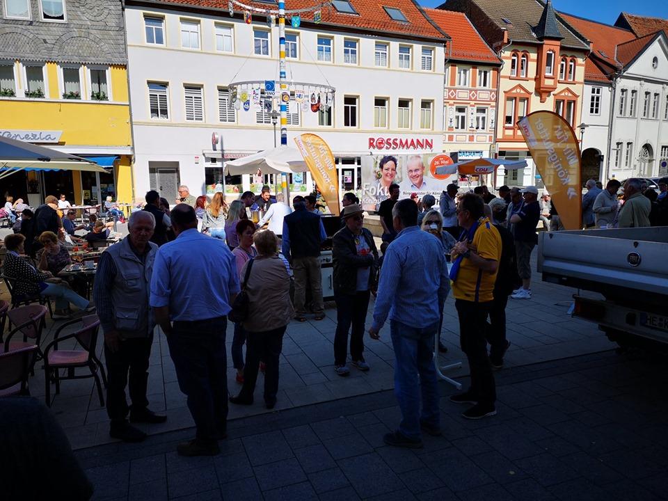 Jetzt geht's um die Wurst - so lautete das Motto des öffentlichen Nachmittages auf dem Marktplatz.