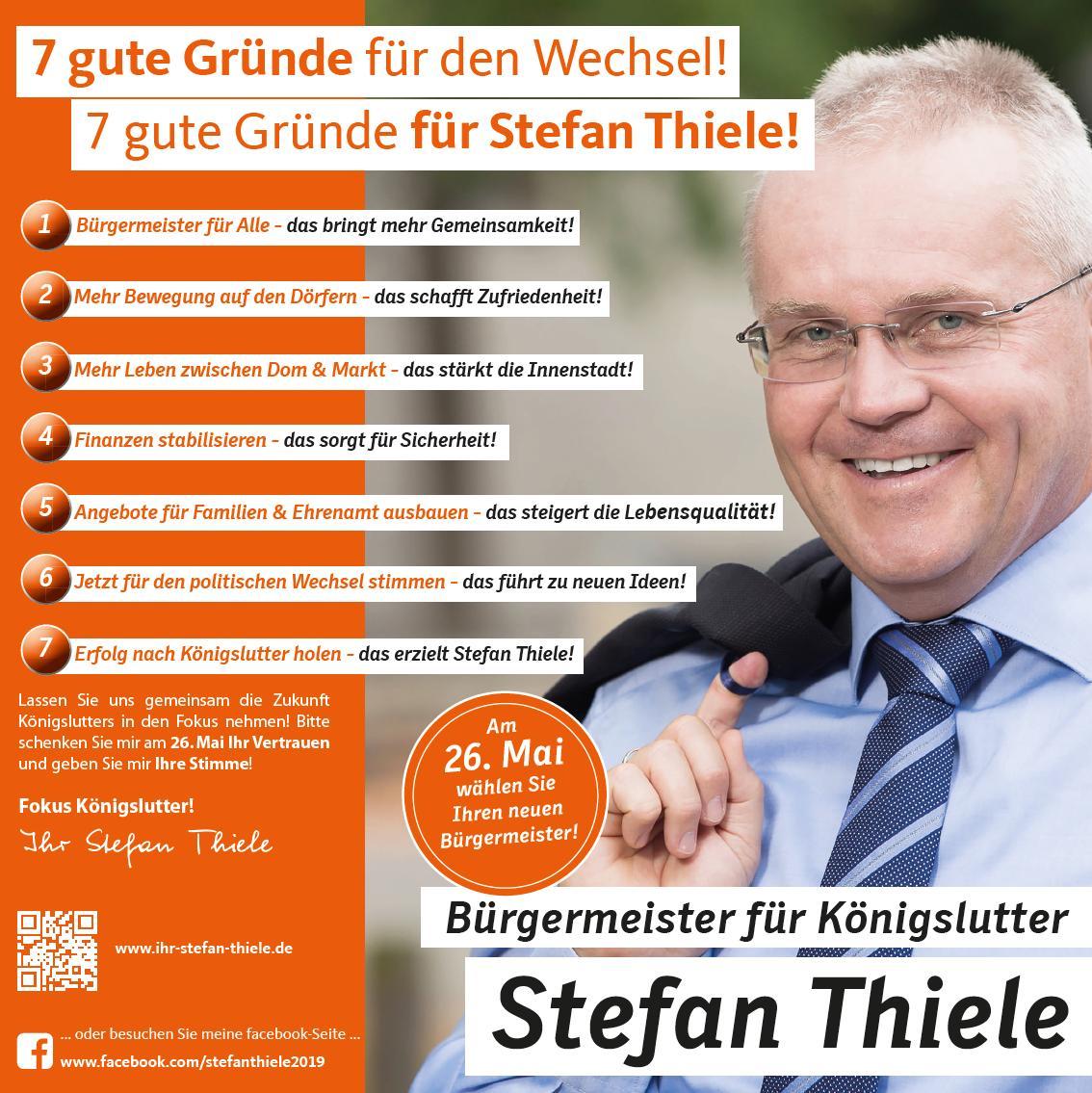 7 gute Gründe für den Wechsel! - 7 gute Gründe für Stefan Thiele!