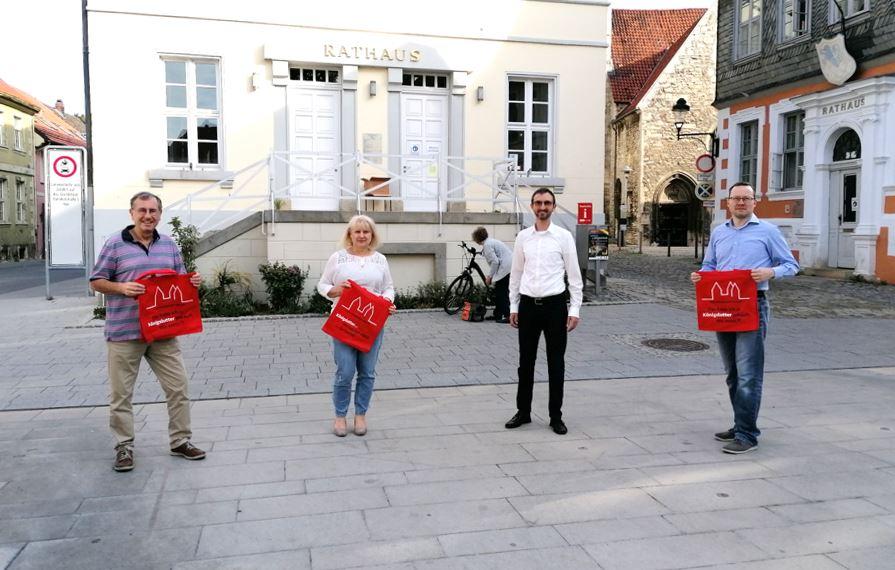 """v.l.nr. Vertreter der Werbegemeinschaft """"Königslutter aktiv"""" Frank Kolbe, Sascha Pesenecker sowie CDU Stadtverbandsvorsitzender Alexander Jordan"""